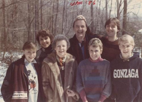 Mary, Ken, Stan, Katherine, Grandma, Anne, Christopher Winte